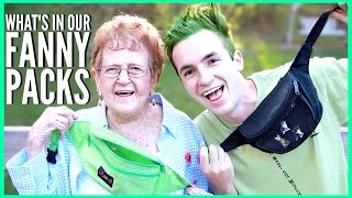 """My grandma dyes my hair green and we show you what's in our fanny packs! (highly requested) JOIN THE DRONIAK FAMILY!: http://bit.ly/1UV2DvZBUSINESS INQUIRES: business@bigfra.meFOLLOW ME TO KEEP UPDATED :) -------------------------------------------------------------------twitter: https://twitter.com/KevinDroniakinstagram: https://www.instagram.com/kevindroniak/LILL's instagram: https://www.instagram.com/grandma_droniaksnapchat: kdron64I HAVE A VLOG CHANNEL TOO! BE SURE TO SUBSCRIBE :Phttps://www.youtube.com/user/waitimkevin---------------------------------------------------------------------THESE ARE MY PROMO CODES. YOUR WELCOME!FREE uber ride with my code: """"KEVIND1363""""LOVE YOU ALL SO MUCH!"""