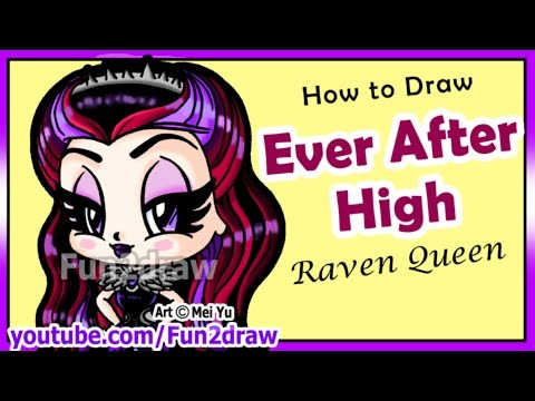 Learn how to Draw Ever After High - Raven Queen - Easy things to Draw Best Fun2draw Art Lessons