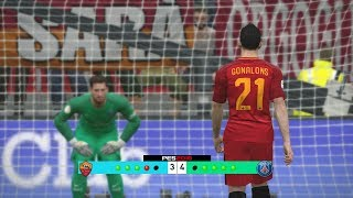 As Roma vs PSG International Champions Cup 2017 Penalty Shootout Simulated #PES2017 #ICC2017Subscribe : https://goo.gl/hOkuyhTwitter : https://twitter.com/LionelPesG+ : https://goo.gl/Bz7FAmPatch : SS Patch Scoreboard : PES 2018 by aziz17 https://goo.gl/d9qAGGAdboard : PES 2018 by Abid Nabawi https://goo.gl/okOQzOKits : Kits Pack 2017/18 HD V3 by Geo_Craig90  https://goo.gl/QUEd8vPES 2017 Fantasy Gameplay/Penalty Shootout : https://goo.gl/gPYg18PES 2017 All Star Gameplay/Penalty Shootout : https://goo.gl/PKXzD8