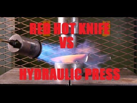 液壓機這次竟然找來「加熱到1000度的刀子」實驗,短短幾秒的結果讓大家都被療癒了!