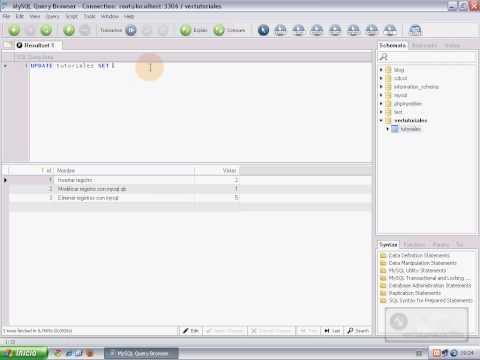 Uso de sentencias SQL básicas – Insertar, Modificar y Eliminar registros con Insert, Update y Delete