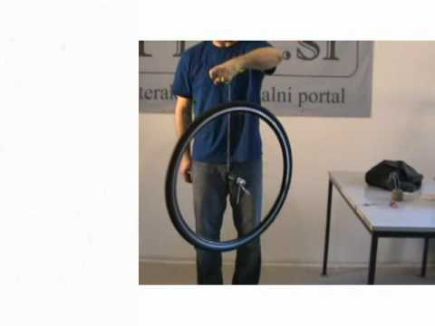 Conservation of angular momentum - science experiment