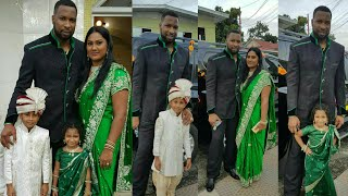 Kieron Pollard with wife Jenna Pollard | West Indies VS England 2019 Cricket Series