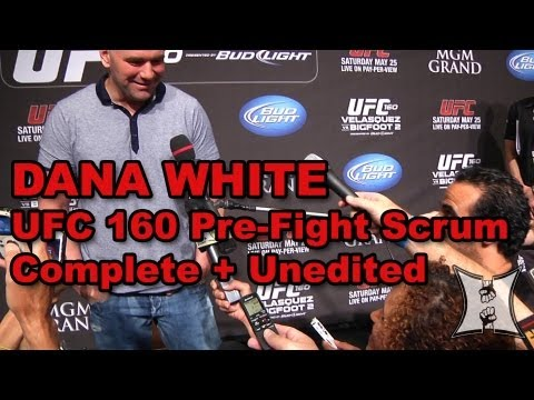 pre - MMA H.E.A.T. brings you UFC President Dana White's media scrum before the UFC 160 PPV, set to take place on May 25, 2013. Dana talks about a number of topic...