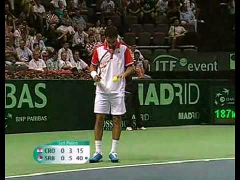 Ivan Dodig y Marin Cilic en la Copa Davis