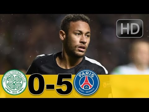 Celtic vs Psg 0-5 All Goals/ highlights UCL 12-09-2017