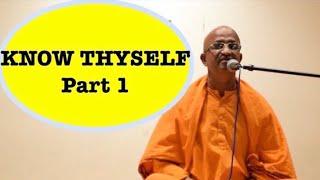 Know Thyself - Swami Nirbhayananda Sarswathi Ramakrishna Mission Part 1 USA Visit