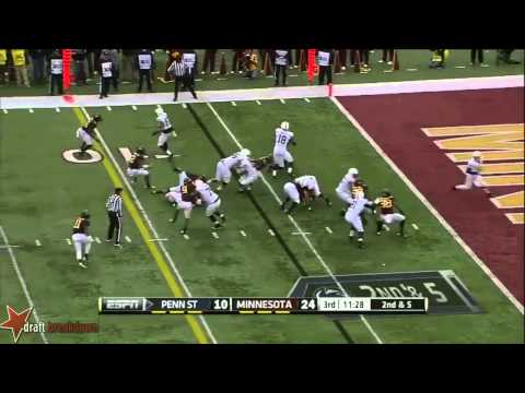 Ra'Shede Hageman vs Penn St. 2013 video.