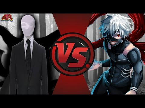 SLENDERMAN vs KANEKI KEN! (Creepypasta vs Tokyo Ghoul) Cartoon Fight Club Episode 180