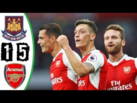 West Ham vs Arsenal 1-5 - All Goals & Highlights (Last Matches) HD