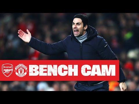 BENCH CAM | Arsenal 2-0 Manchester United | Arteta's first win as head coach
