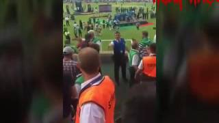 Pakistani fan fight with virat kohli and dhoni after the match.