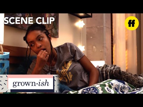 "grown-ish | season 1, episode 2: aaron sends zoey a ""u up?"" text 