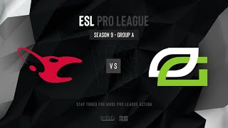 mousesports vs OpTic Gaming - ESL Pro League Season 9 EU- map1 - de_overpass [PCH3LK1N & Smile]