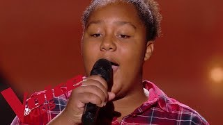 Bob Marley - Redemption song | Mélia | The Voice Kids France 2018 | Blind Audition