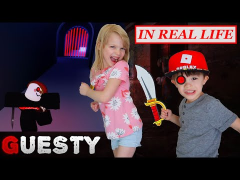Escape Roblox Guesty in Real Life at My PB and J House! Villain Level 5!