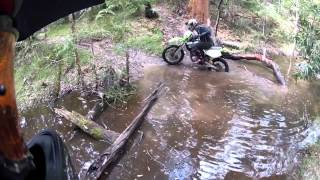 9. Newcastle Trail Riding creek crossing Suzuki DRZ 400 kawasaki klx 250