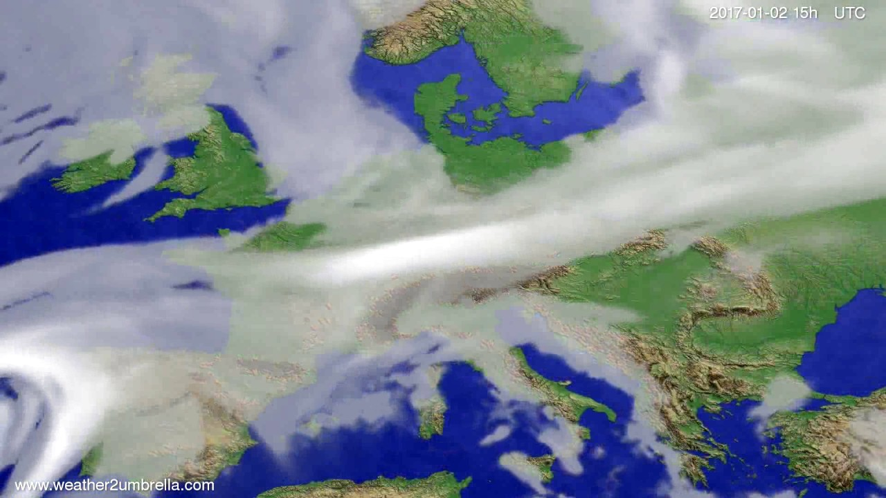 Cloud forecast Europe 2016-12-31