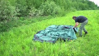 Четырехместная кемпинговая палатка с большим тамбуром. Alexika Nevada 4