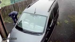 Sebie nie podobało się auto sąsiada. Sam się szybko ukarał