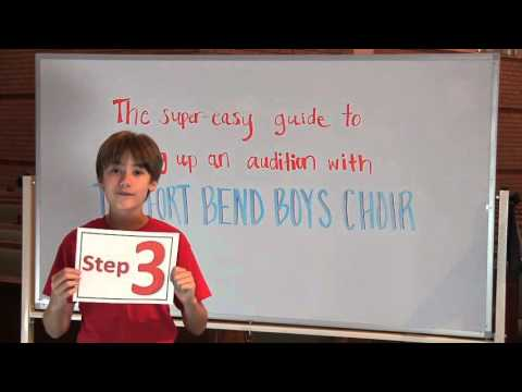 Fort Bend Boys Choir Recruitment Video – # 4