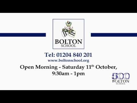 Open Morning 2014 - Bolton School in 30 Seconds