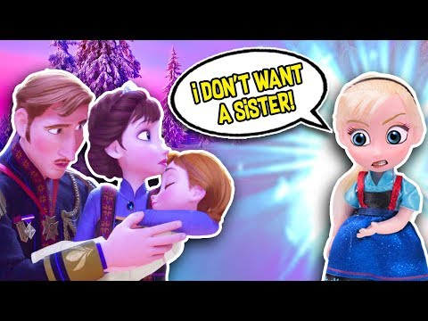 FROZEN 2 TOYS Little ELSA MEETS BABY ANNA for the FIRST TIME 👶🏻😡 FROZEN TOY TRANSFORMATIONS