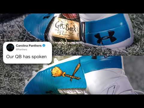 Video: Cam Newton's creative cleats backfired in Panthers loss vs. Saints