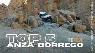 Top 5 Off-Road Trails in Anza-Borrego State Park, California in 4K UHD