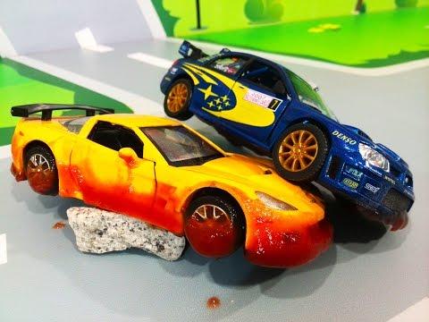 Мультики про машинки. ЛЕГО гоночные машинки в мультике – Опасный трюк. Мультфильмы для детей