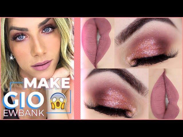 Maquiagem BARATINHA inspirada em GIO EWBANK - Coral Rose Gold Makeup Tutorial - Pausa para Feminices