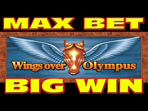 Wings Over Olympus MAX BET & RETRIGGER Slot Machine BIG WIN