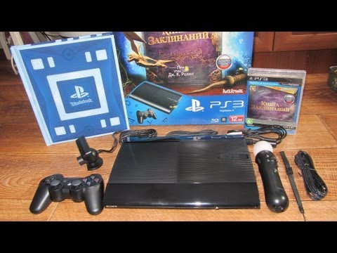Sony PlayStation 3 Super Slim (12 GB) Wonderbook: Книга заклинаний CECH-4008A