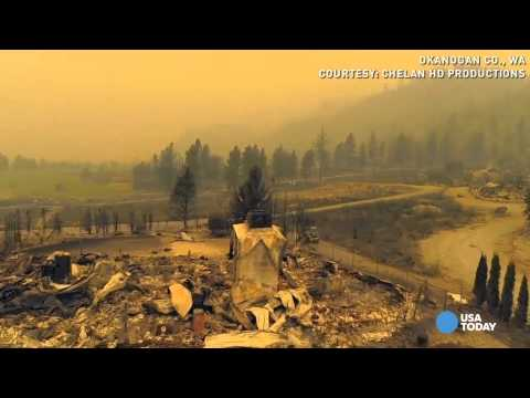 Washington - Chelan HD Productions used a drone to document the devastation caused by Washington's wildfires.