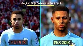 FIFA 18 Vs PES 2018   Famous Young Players Faces Comparison ft. Dembele, Asensio, Rashford   1080 HD