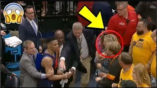 Russell Westbrook SNAPS At Utah Jazz Fans