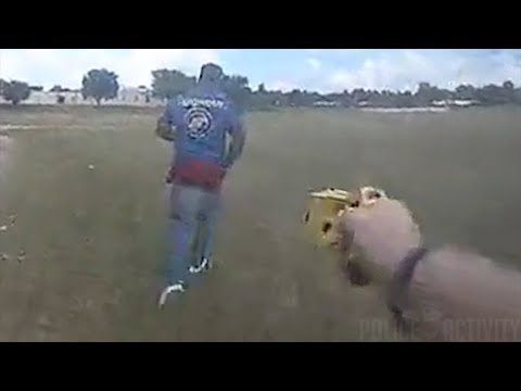 Armed Gang Member Gets Tased After Running Away From Tulsa Cop