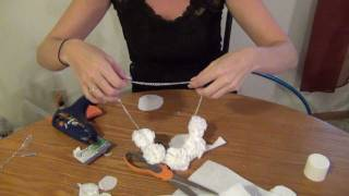 DIY Pom Pom Necklace / Headband - Super Easy :) - YouTube