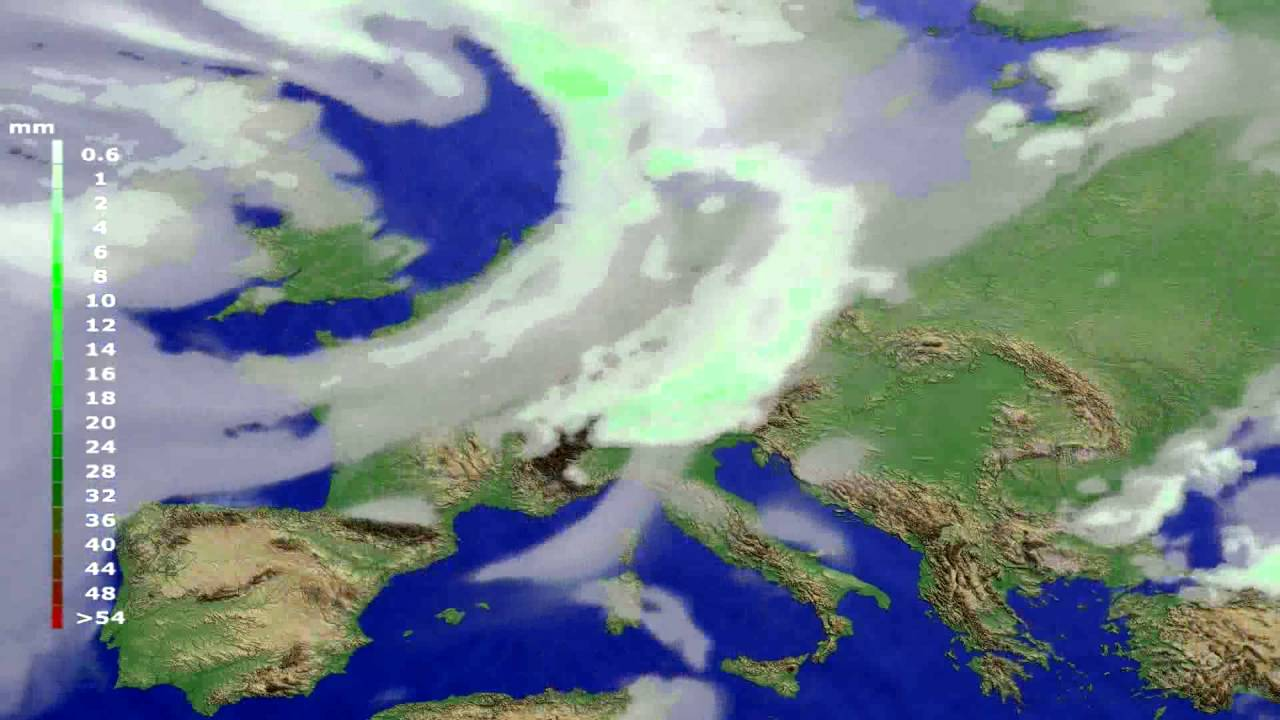 Precipitation forecast Europe 2016-06-27