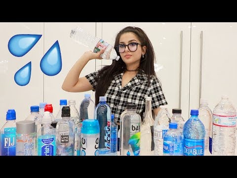 TRYING EVERY BOTTLED WATER (WATER TASTE TEST)