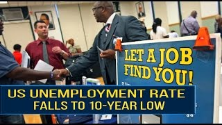 "US Unemployment Rate Falls To 10 Year Low.The US unemployment rate fell to its lowest in almost a decade in March, despite the economy adding a smaller than expected number of jobs.Employers added 98,000 jobs last month - far fewer than the 180,000 expected by economists and less than half the figure for January and February.However, the unemployment rate fell from 4.7% in February to just 4.5% - the lowest since May 2007.Anything under 5% is considered to indicate ""full employment"".The economy needs to create 75,000 to 100,000 jobs a month to keep pace with growth in the working-age population.The US had added more than 200,000 jobs in both January and February, but March brought lower temperatures and a major storm to the North East, which was likely to have hit hiring.""There probably was a large weather-related factor in there during the measurement week. The underlying data still suggests that job growth is pretty good,"" said Russell Price, senior economist at Ameriprise Financial Services.========= Join Us ============** Channel Link : http://bit.ly/2aUXmso** HGTV Dream Home: https://youtu.be/E7dexSblJD4** It's So Hot Out Cockroaches Might Start Flying in NYC: https://youtu.be/p_4sXyQHoms** Bones may belong to teen sacrificed to Zeus: https://youtu.be/BvzMY2JM-2Q** Chimney Fire burns 850 acres near Nacimiento Lake: https://youtu.be/N7Xav9guuOI** Hundreds of Tiny Montserrat Tarantulas Hatch in Zoo: https://youtu.be/BtglHldFhVQ** Bill Clinton Talks Email Controversy: https://youtu.be/DHE1pCdQgNE** Donald Trump Recruits Election Observers to Avoid a 'Rigged' Election: https://youtu.be/hkbfqrS2aIg** Historic' Louisiana Floods: https://youtu.be/OiyVaDKDVJ0** 2 wildfires in California send residents fleeing from homes: https://youtu.be/tQ9jbs1JNE0** Virginia Plane Crash - 6 Victims Identified: https://youtu.be/6xAgbVb1mO0** Explosion of Steam Pipe at Chinese Power Station Kills 21: https://youtu.be/VImgTAFR2RY** Huge fire and explosion destroys Md. apartment complex: https://youtu.be/Dm6JbfpxD18** Pilot fire grows to more than 7,700 acres: https://youtu.be/m98zL5CkyCM** Blind Kid Throws D backs First Pitch in Game: https://youtu.be/auBKq18TuiQ** Kuznetsov Scores World Class Goal ● Ice Hockey: https://youtu.be/vqZtuVe4YSM** Stipe Miocic knocks out Fabricio Werdum : https://youtu.be/1y0ZD3Y0NS0"
