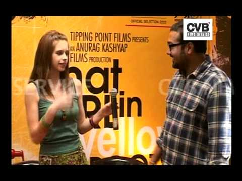 ANURAG KASHYAP AND KALKI KOECHLIN PROMOTE 'THAT GIRL IN YELLOW BOOTS'