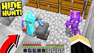 found players in a SECRET underground Minecraft Base.. - Hide Or Hunt #3