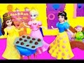 Elsa Frozen Snow White Parody Play-Doh Disney Princess Belle 7 Dwarfs Princesses Castle Toy Video
