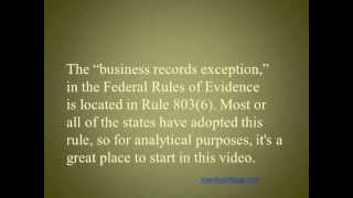 Video Business Records Exception to the Rule against Hearsay in Debt Collection Lawsuits MP3, 3GP, MP4, WEBM, AVI, FLV Agustus 2019
