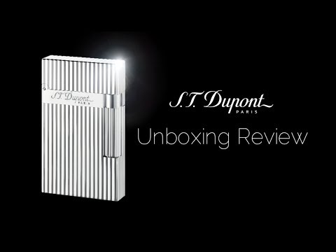 S.T. Dupont Ligne 2 Silver Lighter Unboxing Review 2019