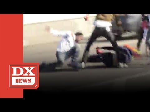 Tekashi69 6ix9ine Involved In Huge Fight At LAX (видео)