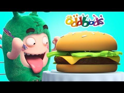Oddbods Love GIANT BURGERS   Funny Cartoons For Kids   Oddbods Full Episodes