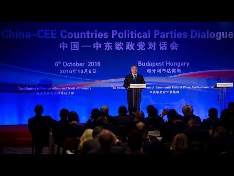 Orbán Viktor miniszterelnök a Dialógus Kína és a Közép-Kelet-Európai Politikai Pártok Között