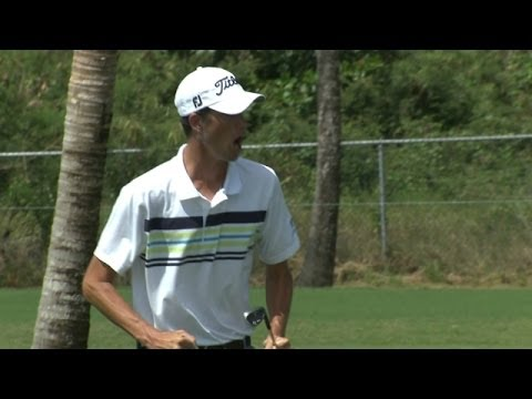 Puerto Rico - In the final round of the 2014 Puerto Rico Open, Chesson Hadley holes a chip shot for birdie on the par-5 5th hole. Subscribe to the channel http://pgat.us/s...